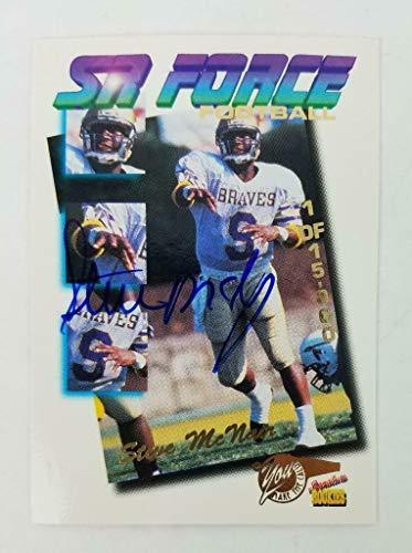 Steve McNair Signed 1995 Signature Rookies Football Card COA Autograph - JSA Certified - NFL Autographed Football Cards