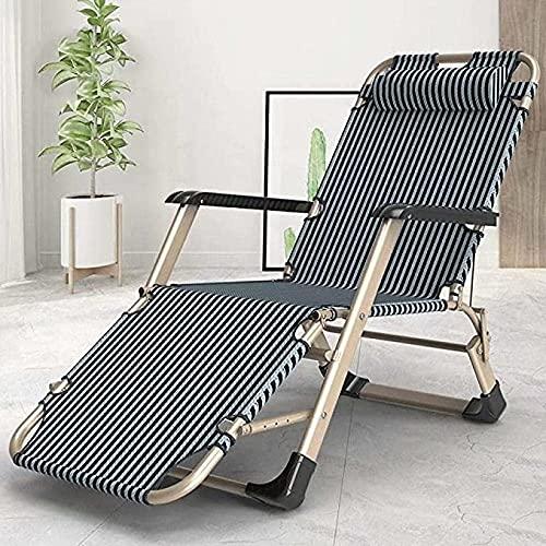 Sedia a sdraio pieghevole, per esterni, da spiaggia, da ufficio, da giardino, fino a 150 kg, portata massima di 150 kg