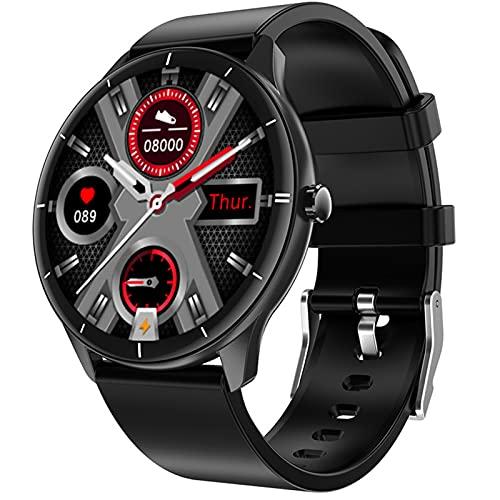 APCHY Smart Watch, 128'Pantalla táctil de la Pantalla táctil con Monitor de Ritmo cardíaco, Impermeable IP67 Activity Tracker Pedómetro Step Sportwatch,Negro
