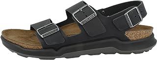 Birkenstock Milano CT Black Oiled Leather Backstrap Sandals Men