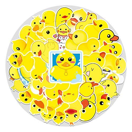 YOUKU Duckling Cartoon Sticker Luggage Notebook Bike Car Refrigerator Waterproof Decorative Stickers 53 Sheets