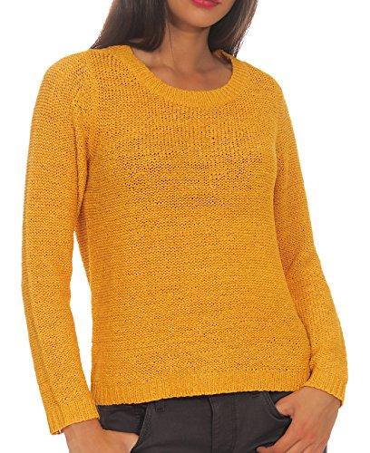 ONLY Damen ONLGEENA XO L/S KNT NOOS Pullover, Gelb (Golden Yellow Golden Yellow), Medium (Herstellergröße: M)