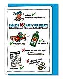 Lustige und freche XL Geburtstagskarte zum 18. Geburtstag