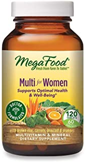 MegaFood - Multi for Women, Multivitamin Support for Energy Production, Hormone Balance, Bone Health, and Brain Function w...