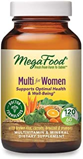 MegaFood, Multi for Women, Supports Optimal Health and Wellbeing, Multivitamin and Mineral Dietary Supplement, Gluten Free...