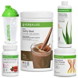 Herbalife Quick Combo - Formula 1 Shake Mix (Dutch Chocolate), Personalized Protein, Herbal Aloe (Mango), Herbal Tea Concentrate (Raspberry)