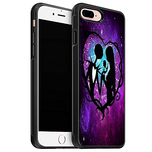 Cool The Nightmare Before Christmas Pattern Silicone Soft iPhone 8 Plus Case (2017) / Designed for iPhone 7 Plus Case (2016) - Black