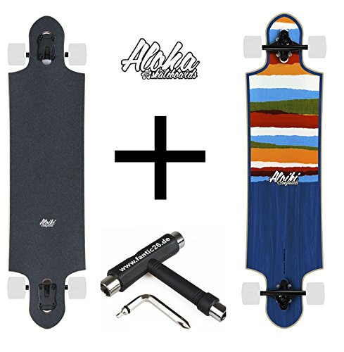 Aloiki Longboard + Fantic26 Skatetool (Colours + Fantic26 Skatetool)