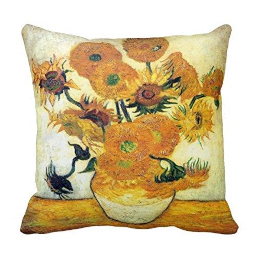 Vaas met vijftien zonnebloemen van Vincent Van Gogh kussensloop