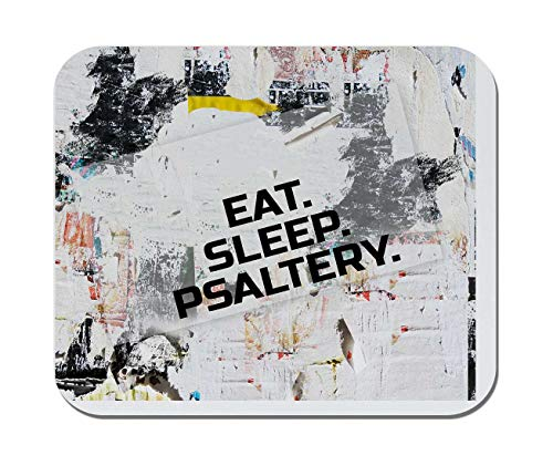 Makoroni - EAT Sleep Psaltery Music Musician - Non-Slip Rubber - Computer, Gaming, Office Mousepad