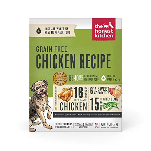The Honest Kitchen Human Grade Dehydrated Grain Free Chicken Dog Food 10 lb - Force