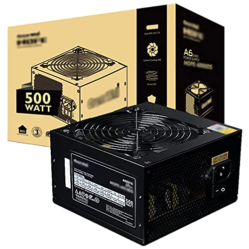 ZHMIAO Desktop Computer Power Fuente de alimentación 500W Ahorro de energía Silencio Mute Fuente de alimentación