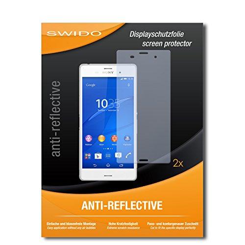 SWIDO Schutzfolie für Sony Xperia Z3 [2 Stück] Anti-Reflex MATT Entspiegelnd, Hoher Festigkeitgrad, Schutz vor Kratzer/Bildschirmschutz, Bildschirmschutzfolie, Panzerglas-Folie