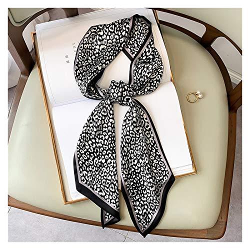 XHHDP 2 Morceaux de 2021 Petite écharpe carrée de Soie Foulard étroite Rayure de léopard imprimé de Mouchoir imprimé Femme Foulard Bandeau Foulard Foulard Foulard Foulard Femme 15 * 150cm