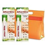 AfterBite Classik - Doppelpack Stift gegen Mücken-Moskito Zecken Bisse Stiche Stick, Gegen Bienen Wespen Quallen + KULTURBEUTEL