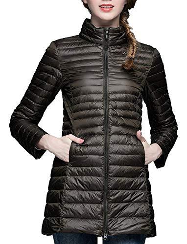 HuntDream Kurzer Packable Long Puffer Jacket für Damen