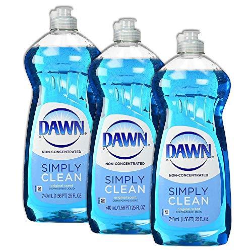 Dawn Dish Soap, Non-Concentrated Dishwashing Liquid, Original Scent, 25 Fl Oz, Set of 3