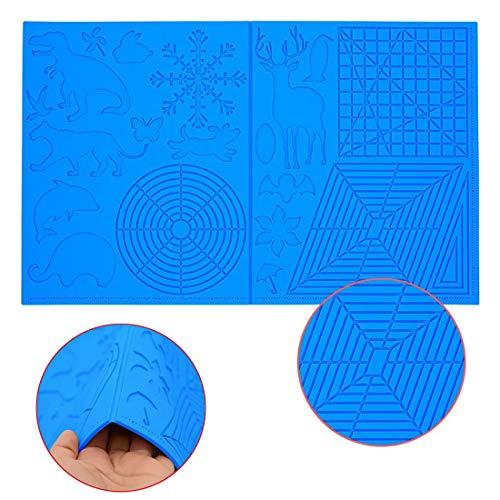 3D Stift Vorlage, 3D Druckstift Vorlage,3D Stifte Matte,große Matte (45CM x 28cm,thick:3.5mm) mit Tiermuster hilfreich für Anfänger,Kinder und 3D-Stiftkünstler.
