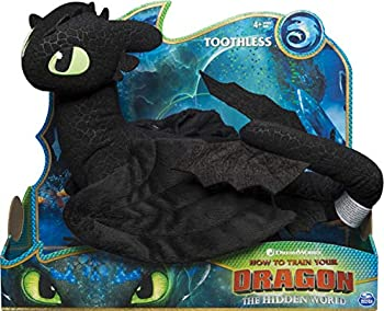 Dreamworks Dragons Toothless 14-inch Deluxe Plush Dragon for Kids Aged 4 and Up