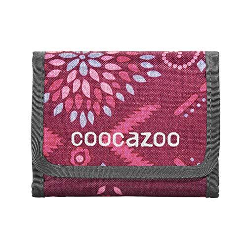"""coocazoo Geldbeutel CashDash """"Tribal Melange"""", pink, Portmonnaie mit Sichtfenster, Münzfach, viele Kartenfächer, Klettverschluss, für Mädchen ab der 5. Klasse"""