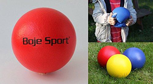 Boje Sport - des produits PREMIUM (expédition rapide) Balle en Mousse, Ø 16 cm, Couleur: Rouge - Ballon Football Peau d'elephant