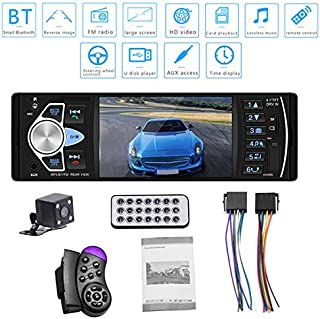 Alician 4.1 inch HD Car MP5 Bluetooth Hands-Free Vehicle MP5 Player Card Radio 4022D with Rear Camera