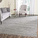 Safavieh Rag Rug Collection RAR121A Hand Woven Grey Cotton Square Area Rug (6' Square)