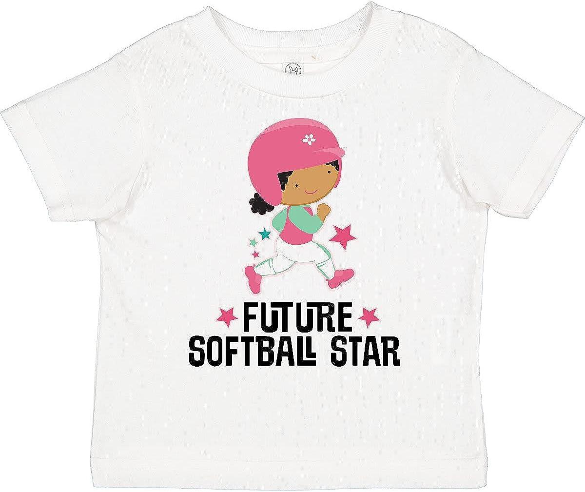 inktastic Future Softball Star Cute Girls Toddler T-Shirt