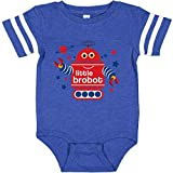inktastic Robot Little Infant Creeper 6 Months Football Blue and White 1713a