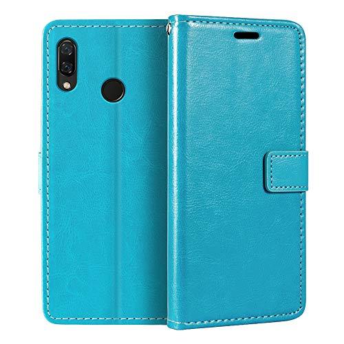 Capa carteira para Huawei Nova 3i, capa flip magnética de couro sintético premium com suporte para cartão e suporte para Huawei Nova 3i