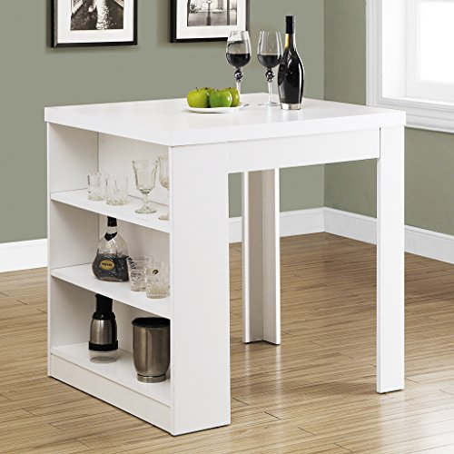 Monarch Specialties Hollow-Core Counter Height Table, 32 by 36-Inch, White
