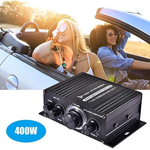 KKmoon Auto BT Verstärker 400W DC12V, HiFi Autoradio Musik Receiver, FM MP3 Endstufe, Autoradio-Musikempfänger, BT HiFi Leistungsverstärker