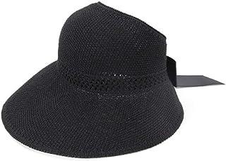 قبعة شمس Wxcgbtym ، قبعة شمس ، قبعة صيفية للنساء ، قبعة شمس من القش قبعات الشاطئ المسطحة ، قبعات السفر قبعة شمس (اللون: أسود)
