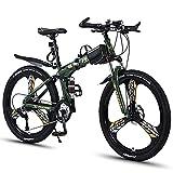 RSTJ-Sjef Bicicleta De Montaña Plegable, Cambio De Velocidad A Campo Traviesa De 26 Pulgadas para Hombres Y Mujeres, Bicicleta para Estudiantes Adultos,24 Speed