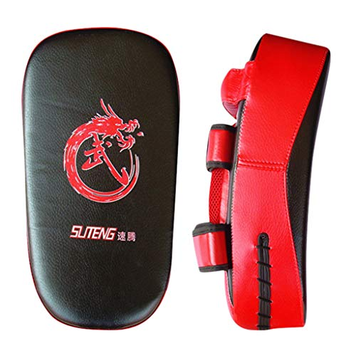 Fitness & Yoga Equipment, Taekwondo Kick Pad Boxing Karate Pad Leather Muay Thai MMA Martial Art, Outdoor&Sport HotSales (Black)