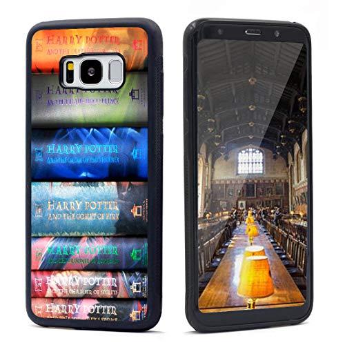 VONDER Galaxy S8 Case, Harry Potter Books Set Design Anti-Skid Shockproof TPU Phone Case Compatible for Samsung Galaxy S8