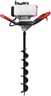"""Pumplus Gas Powered 52CC Post Hole Digger 4"""" Earth Auger Drill Bits for Fence and Planting"""