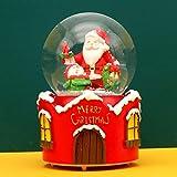 PLBB3K Caja de música de Bola de Cristal de Navidad Copos de Nieve flotantes Ornamentos creativos niños y Caja de Regalo de niñas (Color : Gift Box)