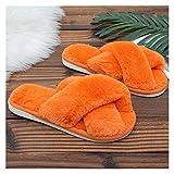 Le pantofole delle donne invernali Pantofole della pelliccia finta della pelliccia dei piedi della pelliccia delle dita dei piedi variopinti della croce variopinta Pantofole della pelliccia pelliccia