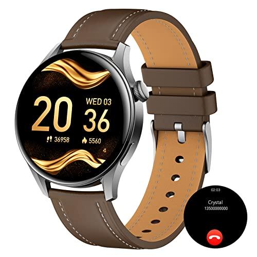 BNMY Smartwatch Orologio Fitness Tracker Uomo, Chiamata Bluetooth Activity Tracker Contapassi Cardiofrequenzimetro Pressione Nel Sangue Meteo Interfacce Personalizzate per Android iOS,F