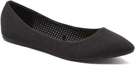 Charles Albert Women's Semi Pointed Almond Toe Ballet Comfort Soft Slip On Flats Shoes