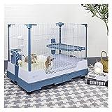 ZANZAN Jaula para pájaros Jaula De Conejo Grande Rolling Pequeño Animal Conejito Hábitat Transporte De La Bandeja con Ruedas Muebles para Mascotas Jaula pájaros (Color : Blue)