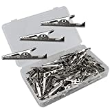 Senven 100pcs cocodrilo Clip, pinzas prueba cocodrilo de cocodrilo Prueba de electricista, pinza de metal pinza de clip de cocodrilo.