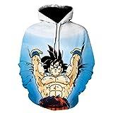 RENEO Chico Hombres Sudaderas con Capucha,Goku Dragon Ball Disfraz De Cosplay, Sudadera con Capucha De Algodón-23_Metro