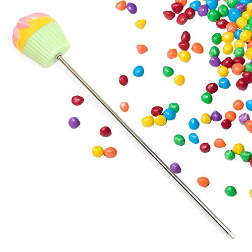 Cakester | 2 Pcs Prime Grade Stainless Steel 7inches Cake Tester with Resin Decorative Grip for Cake, Bread, Cupcake, Muffin, Dishwasher Safe, Colorful Grip | 592.02