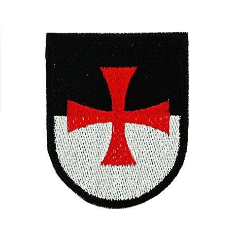Opnaaier, geborduurd, voor rugzak, wapen Tempelritter Kruis Airsoft