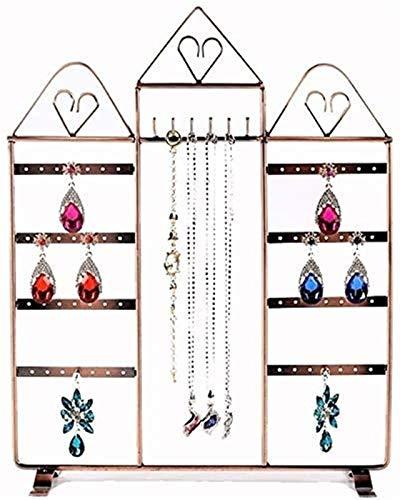 KEEBON Pantalla de la exhibición de la joyería Pendiente del Pendiente de la joyería Collar de exhibición de la joyería Capacidad Grande con Soporte de Las Pulseras de pie extraíbles Top para Soporte