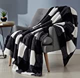 Monbix Throw Blankets Soft Fuzzy Warm, Fluffy Throw Blankets Couch Fleece, Throw Blankets Bed Cozy Machine Washable - Buffalo
