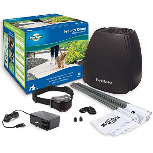 PetSafe Free to Roam Dog and Cat Wireless Fence – Above Ground Electric Pet Fence – from the Parent Company of INVISIBLE FENCE Brand