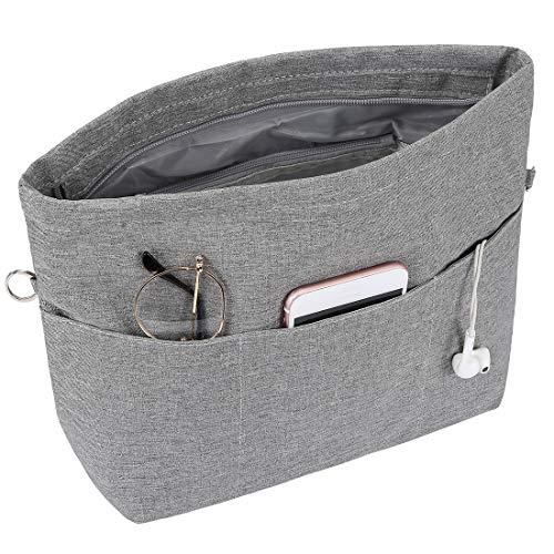 Joqixon Leicht Handtaschen Organizer mit Reißverschluss, Taschenorganizer für Damen Shopper, Taschen Organizer in Bag
